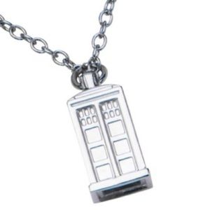 Hot Topic Official Dr. Who Police Box Necklace
